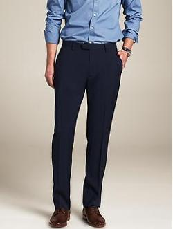 Modern Slim-Fit Navy Wool Suit Trouser by Banana Republic in Wish I Was Here