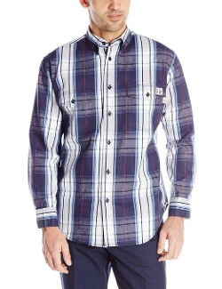 Flame Resistant Plaid Twill Shirt by Wolverine in Dope