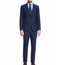 Torino Peak-Lapel Two-Piece Wool Suit by Ermenegildo Zegna in Ballers