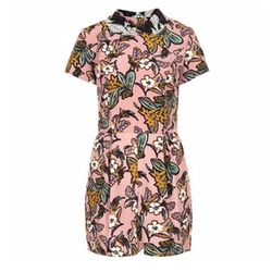 Floral Print Collar Playsuit by Topshop in Pretty Little Liars