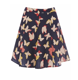 Multicolor Bold Butterfly Flippy Skirt by Oasis in Me Before You