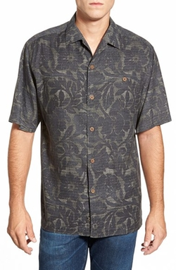 'Lava Bloom' Short Sleeve Camp Shirt by Tommy Bahama in American Pie