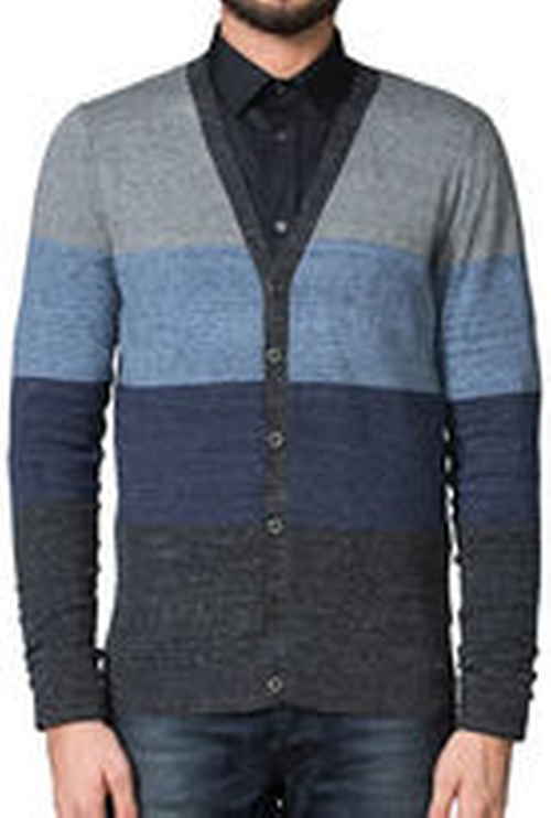Striped Stretch Cardigan by Diesel in The Flash - Season 2 Episode 1