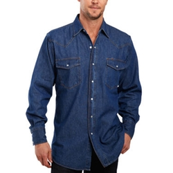 Denim Washed Snap Shirt by Ely Cattleman in The Big Bang Theory
