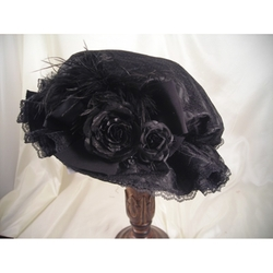 Lace Victorian Hat by Blanche's Place in Crimson Peak