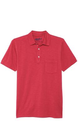 Slub Jersey Short Sleeve Polo by Hartford in Project Almanac