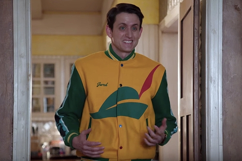 Custom Made Pied Piper Jacket by Ink & Thread LA in Silicon Valley - Season 3 Episode 8