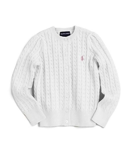 Toddler's & Little Girl's Cabled Cotton Cardigan by Ralph Lauren in Steve Jobs