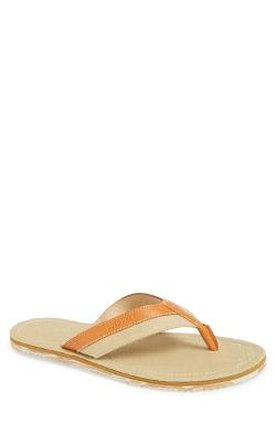 Meyer Leather & Canvas Flip Flop by Cole Haan in Couple's Retreat