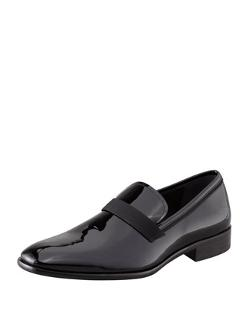 Antoane Patent Loafer by Salvatore Ferragamo in The Judge