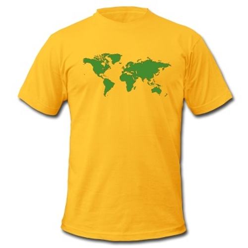 World Map T-Shirt by Spread Shirt in The Big Bang Theory - Season 9 Episode 10