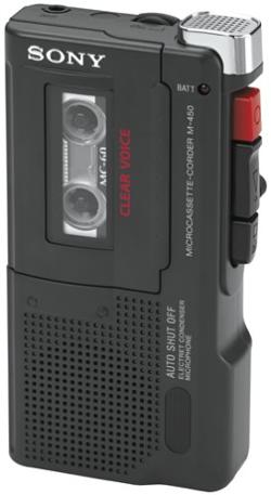M-450 Microcassette Recorder by Sony in A Walk Among The Tombstones