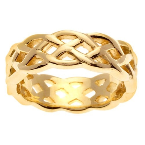 Comfort-Fit Celtic Knot Ring by DeBebians in She's Funny That Way