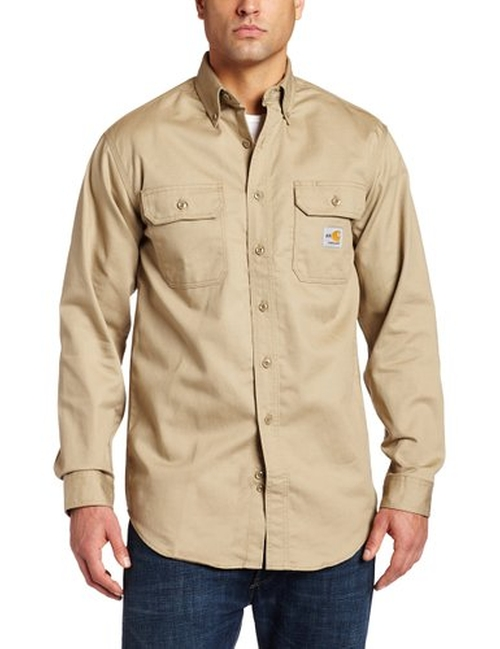 Men's Flame Resistant Classic Twill Shirt by Carhartt in Daddy's Home