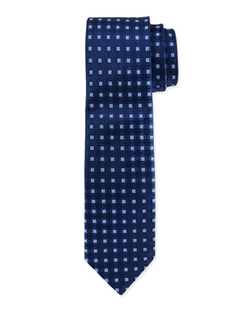 Square Medallion Silk Tie by Charvet in Elementary