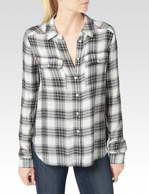 Trudy Shirt - Black & True Blush by Paige in Arrow