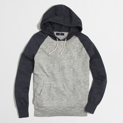 Colorblock Cotton Hoodie by J. Crew in Ex Machina