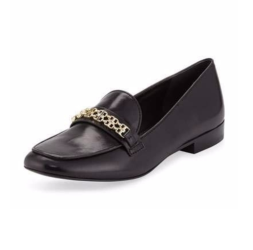 Gemini Link Leather Loafer by Tory Burch in The Boss