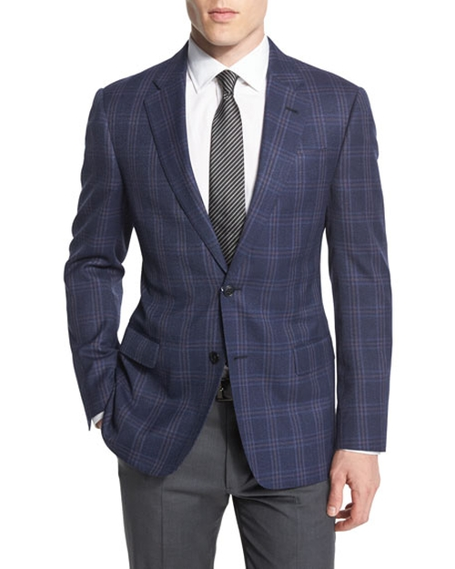 Triple Windowpane Sport Coat by Giorgio Armani in Lethal Weapon