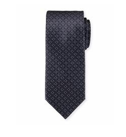Circle-Link Printed Silk Tie by Brioni in Suits