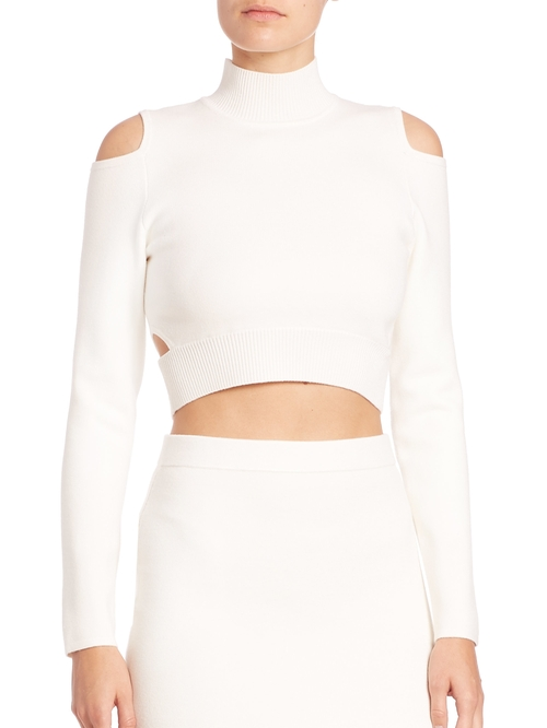Cutout Cropped Turtleneck Sweater by Jonathan Simkhai in The Bachelorette - Season 12 Looks