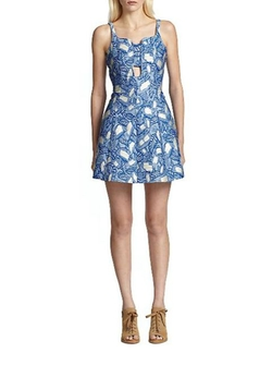 Painted Leaves Jacquard Cutout Dress by Opening Ceremony in Scream Queens