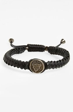 'Crest' Woven Leather Bracelet by Gucci in Need for Speed