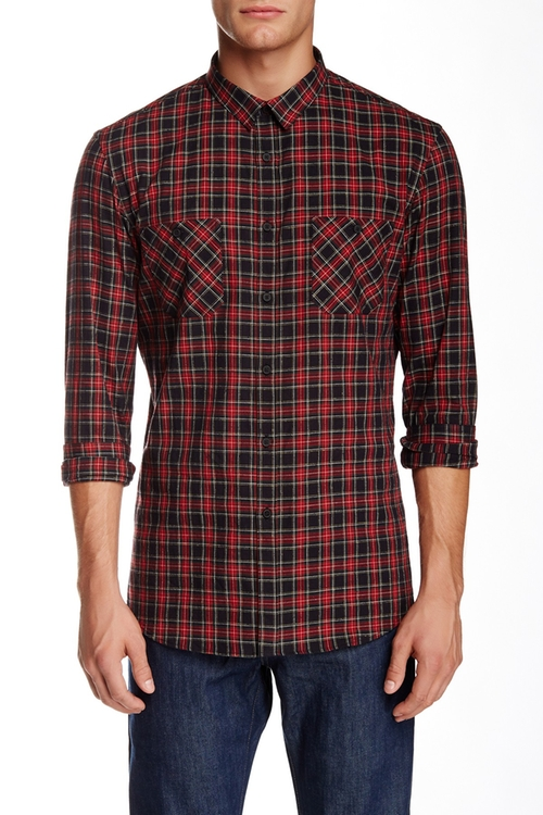 Plaid Long Sleeve Shirt by The Kooples in X-Men: Apocalypse