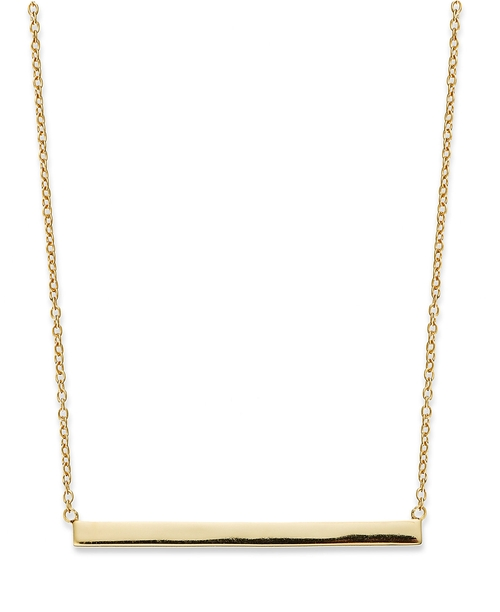 Gold Over Sterling Silver Bar Necklace by Studio Silver in Pretty Little Liars - Season 6 Episode 4