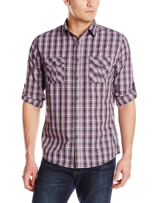 Multi Plaid Button Down Shirt by Axist in The Big Bang Theory - Season 9 Episode 13