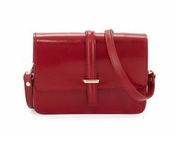 Leather Flap-Top Crossbody Bag by Neiman Marcus Made In Italy in New Girl