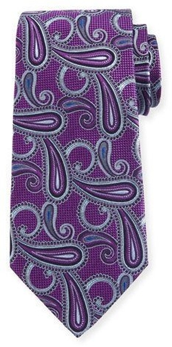 Woven Paisley Silk Tie by Armani Collezioni in The Boss