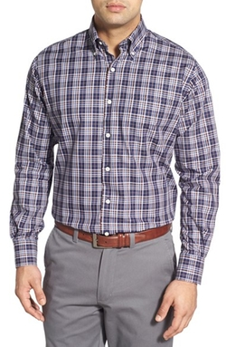 'Adler Plaid' Twill Sport Shirt by Peter Millar in Modern Family