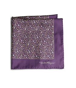 Ramage Floral Silk Pocket Square by Salvatore Ferragamo in Ballers