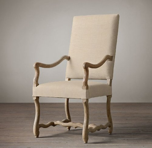 Upholstered Armchair by Os De Mouton in Black or White