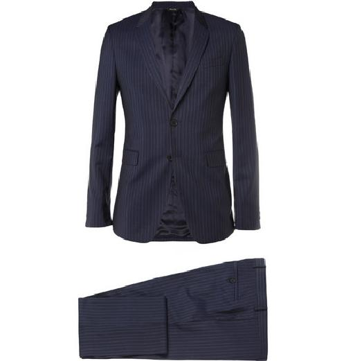 Navy Kensington Slim-fit Pinstripe Cotton Suit by Paul Smith London in The Great Gatsby