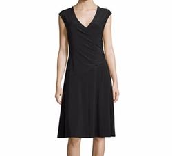 Cap-Sleeve Faux-Wrap Dress by Nic+Zoe in Billions