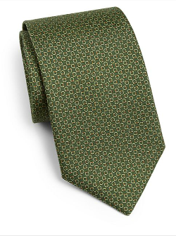 Gancini Print Silk Tie by Salvatore Ferragamo in The Other Woman