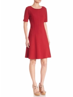 Seamed Fit-&-Flare Dress by Lafayette 148 New York in New Girl