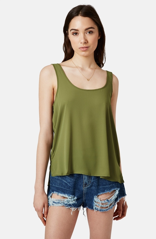 Scoop Neck Tank Top by Topshop in Project Almanac