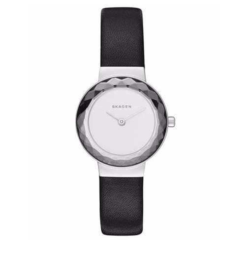 Women's Lenora Black Leather Strap Watch by Skagen in Blair Witch