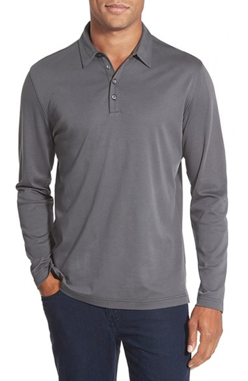 Modern Fit Long Sleeve Polo Shirt by Robert Barakett in American Pie