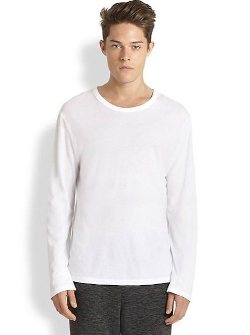 Solid Cotton Tee by T by Alexander Wang in Cut Bank