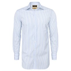 Osterley Stripe Classic Fit Double Cuff Shirt by Thomas Pink in Run All Night