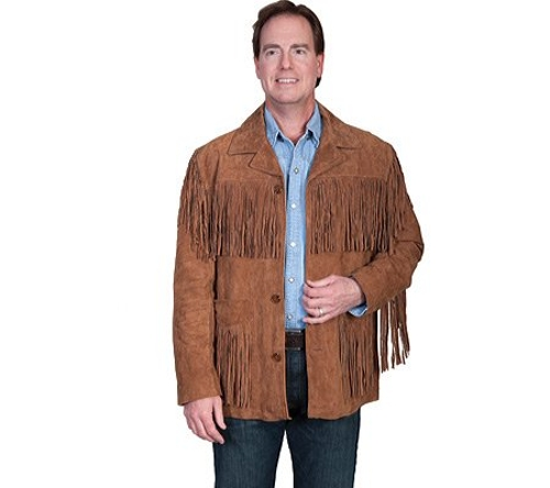 Men's Suede Fringe Jacket by Scully in Me and Earl and the Dying Girl