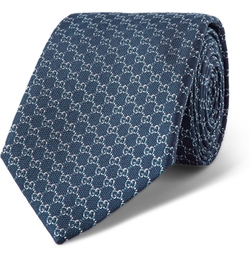 Monogrammed Silk Tie by Gucci in Suits
