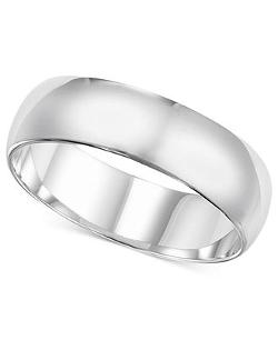 14k White Gold Ring Wedding Band by Macy's in Prisoners
