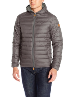 Men's Quilted Puffer Jacket with Hood by Save The Duck  in New Girl