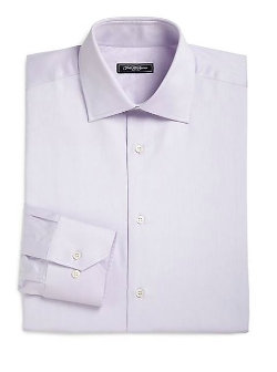 Classic-Fit Solid Dress Shirt by Saks Fifth Avenue Collection in Silver Linings Playbook