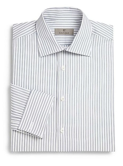 French Cuff Striped Dress Shirt by Canali in The Blacklist